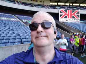 Kilomathon finish at Murrayfield