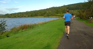 Lochore Parkrun leader vanishing into the distance
