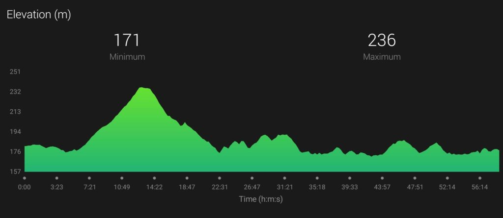 Kielder 10K Elevation Profile